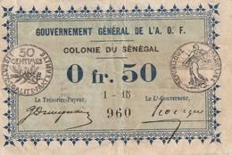 Sénégal Billet De 0.5 Centimes 1917 Bel état RARE - Sénégal