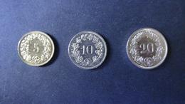 Switzerland - 2009,1982,2012 - 5,10+20 Rappen - KM 26c,27 + 29a - XF - Look Scans - Schweiz