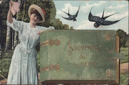 CPA Souvenir Du 7ème Génie Militaria France Carte Postale à Système Livret 8 Vues Différentes Voyagée 15 9 1909 Avignon - Régiments
