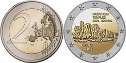 "MALTA  2€ 2.017  2017  Bimetálica ""TEMPLOS DE HAGAR QUIM ""  SC/UNC T-DL-12.217 - Malta"