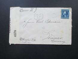 USA 1916 Brief Von New York Nach Weimar Schiffspost?? Oscar II Opened By Censor 4378 / Zensurbrief - Briefe U. Dokumente