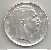 Albania, 1927, 5 Franga, Amet Zogu, Prova Di Vienna, 22,99 Gr. - Albania