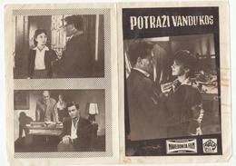 Program Of Yugoslav Film Potraži Vandu Kos From 1957 Avala Film, Makedonija Film B180820 - Programmi