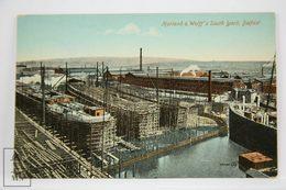 Postcard Northern Ireland - Harland & Wolff's South Yard Belfast - Valentines Series - Antrim / Belfast