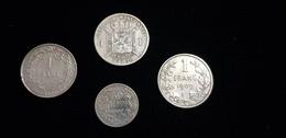 4 Pièce Monnaie Belge 1886 1909 1911 50 C CENT 1 F FRANK FRANC Légende Flamande LEOPOLD II  Albert Roi Argent Couronne - Belgique