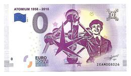 BELGIQUE   ATOMIUM  1958  2018   Anniversaire Expo 58    (billet 0 Euro) - EURO