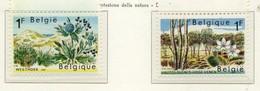 PIA - BEL -  1967 - Protezione Della Natura -  (Yv 1408-09) - Vegetazione