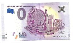 BELGIQUE   BELGIAN BEERS   Bières Belges   (billet 0 Euro) - EURO