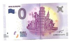 BELGIQUE   MINI EUROPE   (billet 0 Euro) - EURO