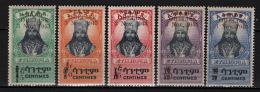 Etiopia 1943 Y.T. 230/34 **/MNH VF - Äthiopien