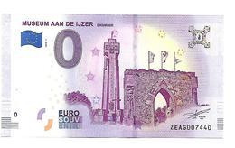BELGIQUE  MUSEUM AAN DE IJZER   (billet 0 Euro) - EURO