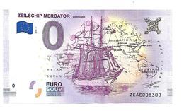 BELGIQUE   ZEILSCHIP  MERCATOR  (billet 0 Euro) - EURO