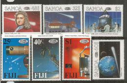 Passage De La Comète De Halley Sur Iles FIDJI Et Iles SAMOA, 2 Séries Complètes Neuves **  Côte 15,00 Euro - Astronomie