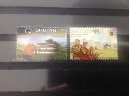 Bhutan - Complete Set Zonsverduistering 2009 - Bhutan