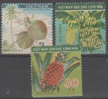 NORTH VIETNAM - Mint No Gum As Issued 1959 Fruit. Scott 106-108 - Vietnam