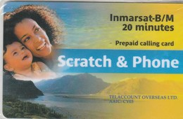 France - Scratch And Phone Inmarsat-Phone (Lady & Girl) - France