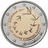 """ESLOVENIA  2€ 2.017  2017  Bimetálica """"10º Aniversario De La Introducción Del Euro En Eslovenia""""  SC/UNC T-DL-12.218 - Eslovenia"""