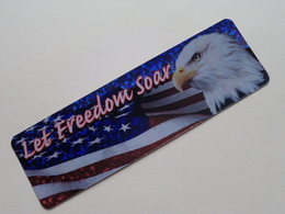 Bookmark, Marque-page, Bladwijzer Let FREEDOM Soar ( DAV ) ( Voir Photo ) Anno 19?? ( Zie Foto Voor Details ) ! - Marque-Pages