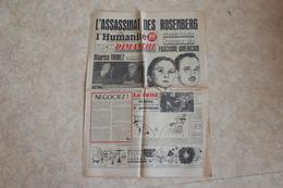 L'HUMANITE DIMANCHE Du 21 Juin 1953-l'assasinat Des ROSENBERG - Journaux - Quotidiens