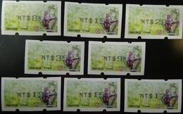 Black Imprint Set Rep China 2018 ATM Frama Stamp-Formosan Macaque Monkey-  Unusual - China