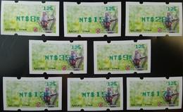 Green Imprint Set Rep China 2018 ATM Frama Stamp-Formosan Macaque Monkey-  Unusual - China