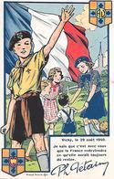 COEURS  VAILLANTS Et AMES  VAILLANTES - Vichy 1940 - Texte De Pétain - Advertising