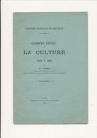 Colonie Agricole De METTRAY, Indre Et Loire - Compte Rendu De Culture De 1873 à 1884 - M. Guimas - Books, Magazines, Comics