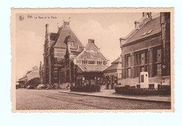 CPSM ATH : La Gare Et La Poste - Nels Et Photo R. Lefebvre, Ath - Ath