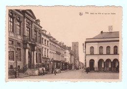 CPSM ATH : Hôtel De Ville Et Rue Aux Gâdes - Nels Et Photo R. Lefebvre, Ath - Ath