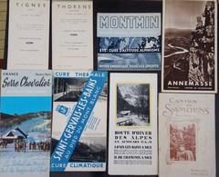 Lot De Dépliants Touristiques Anciens En Bon état Tignes, Thorens, Annemasse, Montmin, Hautes Alpes Etc ... - Dépliants Touristiques