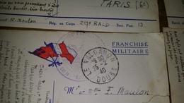* LOT DE 6 CARTES FRANCHISE MILITAIRE 39/45 CORRESPONDANCE MILITAIRE VOIR OBLITERATION - Old Paper