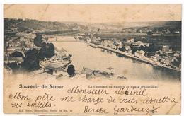 Lot De 2 CPA DND : NAMUR Panorama Vers La Meuse Et Le Confluent, Vue Vers Jambes Et Sarasse 1900 Et 1898 - Namur
