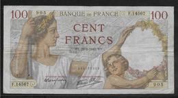 France - 100 Francs Sully - 22-8-1940 - Fayette N°26-37 - TB - 1871-1952 Antichi Franchi Circolanti Nel XX Secolo