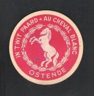 Bierviltje - Sous-bock - Bierdeckel -  IN 'T WIT PAARD - AU CHEVAL BLANC - OSTENDE   (B 892) - Sous-bocks