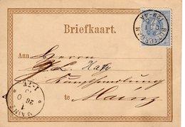 Bk Formulier GII  Met Bijfrankering  NVPH 19 Van Rottardam Naar Mainz - Material Postal