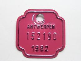 FIETSPLAAT / PLAQUE Vélo ( Antwerpen Nr. 152190 ) Anno 1982 ( België ) ! - Kennzeichen & Nummernschilder