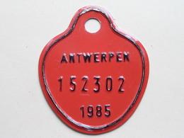 FIETSPLAAT / PLAQUE Vélo ( Antwerpen Nr. 152302 ) Anno 1985 ( België ) ! - Placas De Matriculación