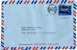 Aerogramme De Taipei (06.09.1974) Pour Troisdorf - 1945-... République De Chine