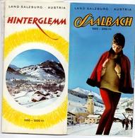 Brochure Dépliant Faltblatt Toerisme Tourisme - Saalbach - Salzburg - Austria - Oostenrijk - Ca 1960 - Skimap - - Dépliants Touristiques