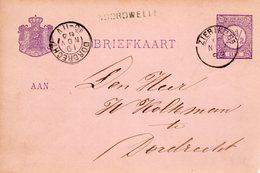 Bk G23 Met Langstempel NOORDWELLE Via Zierikzee Naar Dordrecht - Postal Stationery