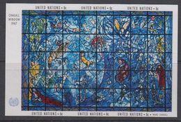UNO New York 1967 Chagall Window M/s ** Mnh (40187) - Blokken & Velletjes