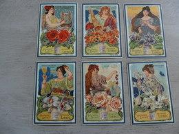 LIEBIG ( 619 ) - Langue Française - 6 Chromos N° 1 à 6  - S 713 :  Syboles Des Fleurs ( Art Nouveau Style Mucha )   1902 - Liebig