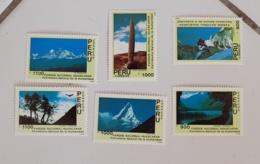 PEROU Montagne. Mountains & Mountain Climbing, Yvert 916/22 ** MNH. Le Parc National Huascaran 1990 - Pérou