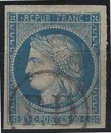 France Colonies N°12 Oblitéré Du Cachet à Main PD (certainement Réunion), Variétés De Cassures ...R...signé BRUN - Ceres