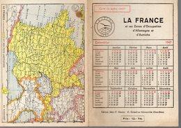 Calendrier 1947 LA FRANCE ET SES ZONES D'OCCUPATION EN ALLEMAGNE  (PPP14522) - Calendars