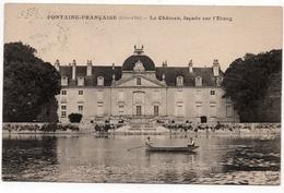 Fontaine Française : Façade Du Château Sur L'étang (Louys Et Bauer, Dijon) - Francia