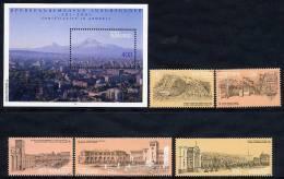 ARMENIA 1995 Yerevan Views (5v + Block) MNH / ** - Armenia