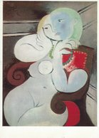 Pablo Picasso - Painting:  Nude Woman In A Red Armchair. Tate Gallery. Used 1967.  # 07878 - Paintings