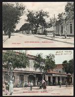 St. DENIS DU SIG (Algérie) Lot De 2 Belles Cartes Animées: Maison Puch Et Bd. Gambetta - Altre Città