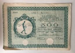 BEOGRAD  SERBIA   AGRICULTURE   1931.  500 DINARA - Landwirtschaft